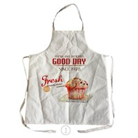 Wholesale cooking goods - Good Day Style Food Pattern Men Women Linen & Cotton Kitchen Cooking Apron For Couples Cleaning Aprons