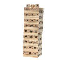 domino gebäude großhandel-Domino 4 stücke Würfel Turm Holzbausteine 54 stücke Stapler Extrakt Gebäude Pädagogisches Spielzeug Spiel Turm