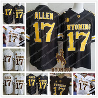 Wholesale football cowboys - NCAA Wyoming Cowboys #17 Josh Allen Brown White Jersey Coffee 2018 Draft College Football Stitcehd No Name S-3XL Mens Youth Kids Adult Cheap