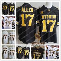 bräunung 3xl großhandel-NCAA Wyoming Cowboys # 17 Josh Allen Braun Weißer Jerseykaffee Billig College Football Stitcehd No Name Männer Jugend Kind Frauen Erwachsener S-3XL