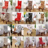красный свадебный банкет стул оптовых-современный стул охватывает европейский печатных стрейч спандекс банкетный стул сиденья охватывает свадьба отель ресторан кухня стул протектор