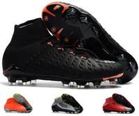 2018 Botas altas de tobillo de fútbol originales Hypervenom Phantom III DF FG ACC Zapatillas de fútbol HypervenomX Proximo TF IC AG Zapatillas de