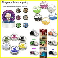 Wholesale Magnetic Rubber - Slime New Magnetic Putty Rubber Mud Handgum Hand Gum Magnetic Plasticine Silly Putty Magnet Clay Ferrofluid DIY Creative Toys 7 Colors