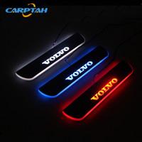 sipariş arabası toptan satış-CARPTAH Trim Pedalı Araba Dış Parçaları LED Kapı Eşiği Itişme Plaka Yolu Dinamik Streamer ışık Için Volvo XC60 2015 2016