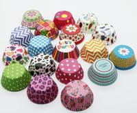 cupcake liner stil großhandel-30 Arten Geburtstagsparty Papier Backen Tassen Cupcake Liner Muffins Fällen