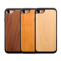 Wholesale plastic wood phone case resale online - High Quality Real Wood hybrid in protective back cover cases Cell Phone case for iphone iPhone s plus