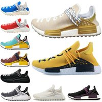 Wholesale mens trail running shoes online - Human Race Running Shoes Pharrell Williams Hu Trail Holi China Exclusive EQUALITY HAPPY PASSION Mens Women trainers Hiking Sports Sneakers