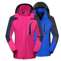 pantalons de snowboard achat en gros de-Hiver Ski Suit Femmes Hommes 2018 Ski Jacket Pants Sport Manteau De Snowboard Imperméable Chaud Randonnée Randonnée Camping Ski Snowboard Vêtements