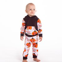 53d35e804 Wholesale baby boy thanksgiving outfits resale online - INS Thanksgiving  Day Kids Clothing Set Baby Gobble