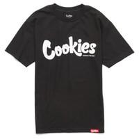 camisa menta al por mayor-Galletas SF Berner Men's Thin Mint Camiseta Black White Tee Ropa Ropa