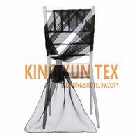 organza kanat satışı toptan satış-Sıcak Satış 35 cm x 190 cm Düğün Dekorasyon Için Elmas Toka Ile Chiavari Organze Sandalye Kanat