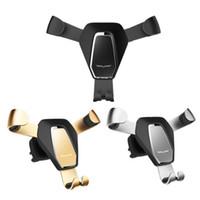 воздух оптовых-Гравитационная реакция автомобильный держатель телефона 360 градусов GPS держатель мобильного телефона для iPhone 8 7 X Samsung Air Vent Mount Clip Holder Stand