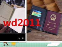 Wholesale note clutch for men resale online - high quality passport cover luxur credt card holder men business travel passport holder wallet covers for passports carteira masc