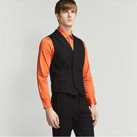 мужской стиль одежды оптовых-Новый стиль жилет мужчины тонкий пользовательские мужские платья деловой костюм жилет мужчины Gilet мода досуг друзья партии жилеты