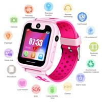 o mais novo rastreador venda por atacado-Venda quente 2019 mais novo smart watch lbs kid smartwatches relógio do bebê para crianças chamada sos localizador localizador rastreador monitor anti lost + box