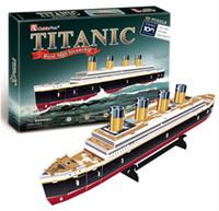 pädagogische papiermodelle großhandel-3D-Puzzles Titanic Schiff DIY Papiermodell Kinder kreative Geschenke Kinder Lernspielzeug Gewöhnliche Version