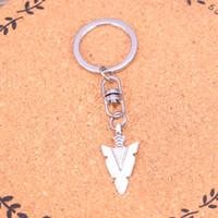 indischen kettenentwurf für männer großhandel-Neuer Entwurf indischer Pfeilspitze Dolch Keychain Auto-Schlüsselketten-Schlüsselring-Silberanhänger für Mann-Frauen-Geschenk