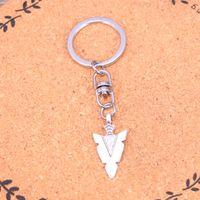diseño de la cadena india para los hombres al por mayor-Nuevo diseño indio arrowhead daga llavero llavero llavero llavero colgante de plata para hombre mujer regalo