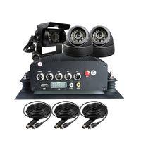 o kamera großhandel-Freies Verschiffen 4 Kanal H.264 I / O 2 TB HDD GPS Fahrzeug Auto DVR Recorder PC Wiedergabe 3 CCTV Auto Kamera Kit für Duty Truck Bus