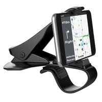 autozelle zubehör großhandel-Universal Auto Armaturenbrett Halter stehen hud Design Clip Smartphone Autohalter Handy Zubehör Handy Stand