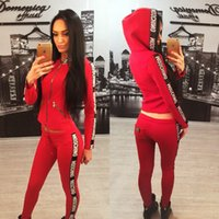 Wholesale Hot Girls Swim Suits - Hot Sale Pink Women's Tracksuits Spring Autumn Style Sweat Shirt Print tracksuit Women Long Pants Pullover Tops Womens Set Girl Sport Suits