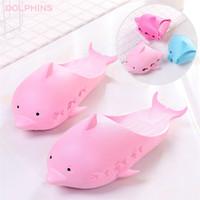 Wholesale kids shoes pairs - 4 Colors Dolphin Flip Flops Love Sandals Pink Letter kids slippers Shoes Summer Soft Beach Slipper 2pcs pair T1I564
