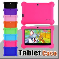 Wholesale mid tablet pc q8 resale online - Anti Dust Kids Child Soft Silicone Rubber Gel Case Cover For quot Inch Q88 Q8 A33 A23 Android Tablet pc MID