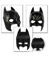yetişkinler için siyah yarı maskeler toptan satış-Gerçek Airsoft Maske Darth Vader Cadılar Bayramı Kostüm Partisi Maskesi Karikatür Simülasyon Erkek Çocuk Yetişkinler Batman Siyah Plastik Ve ...