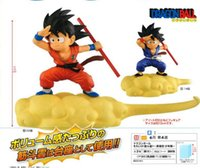 Wholesale goku action toy - Banpresto Dragon Ball DBZ Goku Red Purple Nimbus Cloud Action Figure Figurine Figure Toys Model Dolls Brinquedos