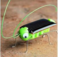 oyuncaklar için güneş enerjisi toptan satış-Güneş çekirge Eğitici Güneş Enerjili Robot Oyuncak Eğitici Oyuncak Gadget Hediye güneş oyuncaklar çocuklar için KKA5726