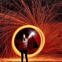 ingrosso fotografia di pittura leggera-Trending Photography Spettacolare Fiery Photo Selfie Tool Lana d'acciaio Fibra di metallo di alta qualità per la verniciatura leggera Lunga esposizione