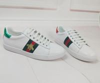 zapatos para correr streetwear al por mayor-Famosas marcas de lujo zapatillas de deporte con cordones zapatillas de deporte con calidad superior de cuero genuino de los hombres de moda streetwear calzado casual