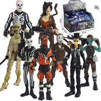 Wholesale kid doll toy for sale - 8 Style Fortnite Plastic Doll toys New kids cm Cartoon game fortnite llama skeleton role Figure Toy Including retail packaging