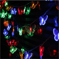 Wholesale Butterfly String Decorations - 10M 50 LEDs butterfly led string lights AC110V 220V outdoor&indoor Christmas Lights Holiday Wedding Party Decoration