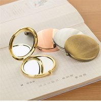 Wholesale zinc frames for sale - Group buy Mirror Alloy Plaster Manual Diy Cosmetic Mirrors With Aluminum Sheet Two Sides Metal Small Mirrors Wedding Favor hz gg