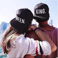 Wholesale King Queen Hip Hop Baseball Caps Embroider Letter Couples Lovers Adjustable Snapback Sun Hats for Men Women Valentine s Day Gift