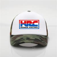 ingrosso fresca auto da corsa-L'ultimo cappello di moda HRC Honda Racing Car Ventilatore moto Cap Cool Summer Berretto da baseball Cappello da Hip Hop per uomo e donna giovane