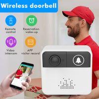 Wholesale door bell camera intercom online - IP Video Intercom WI FI Video Door Phone Door Bell WIFI Doorbell Camera For Apartments Alarm Wireless Security Camera