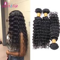 ingrosso i venditori di capelli di vergine bundle-Brasiliani Virgin Hair 3 Bundles Deals I migliori venditori di capelli brasiliani KBL Deep Wave Msu Virgin non trasformati Capelli brasiliani Deep Wave