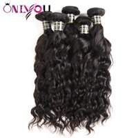 Wholesale wholesale hair weave suppliers for sale - Superior Supplier Raw Indian Virgin Hair Extensions Water Wave Human Hair Bundles Natural Wave Remy Human Hair Weaves Bundles