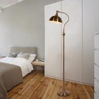 Wholesale copper desk - Class Modern Office Desk Bedroom Adjustable Direction Standing Lamp Copper Color Home Lighting