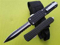 Wholesale knife size online - Large Size Combat Troodon D07 D A AUTO Knives Katana Tri Grip Pocket Knife With Sheath A07 Q