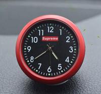 relojes de dedo rojo al por mayor-Automóvil Reloj de cuarzo Decoración del coche Ornamentos del reloj Vehículo Auto Interior Reloj Puntero digital Aire acondicionado Outlet Clip