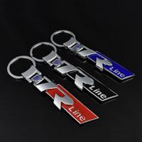 vw tutucu toptan satış-3D Moda metal SLINE için araba logosu anahtarlık anahtarlık anahtarlık anahtarlık VW Llavero Anahtar Tutucu