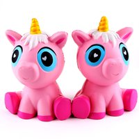 Wholesale Play House Children - Creative Cartoon Unicorn Squishy Hand Squeezed Toys Decompression Squishies Children Play House Toy Gift Pink 19sq CR