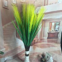 ingrosso canna di plastica-Plastica Reed Erba moda due teste simulazione fiori di seta falsi fiore artificiale per decorazioni di nozze Hotel 6 8 UU UI