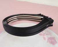 металлические держатели оптовых-5 мм черный Grosgrain ленты покрыты простой металлические ободки, выстроились проволока hairbands DIY аксессуары для волос