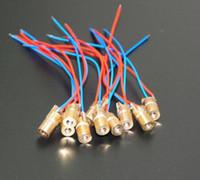 8mm chapeau en paille blanc achat en gros de-100pcs / LOT diode laser rouge 5mW 650nm diodes laser 6mm 5V module de diode à point Diode de tête en cuivre rouge