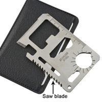 Wholesale 11 tool card for sale - Group buy Hunting Survival Camping Military Credit Card Knife Stainless steel Outdoor Lifesaving Multi Pocket Tools in
