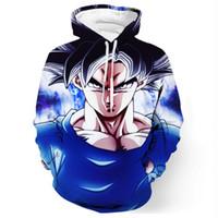 Wholesale goku clothes online - 2018 new fashion Cool sweatshirt Hoodies Men women D print SON GOKU Ultra Instinct hot Style Streetwear sleeve Long clothes